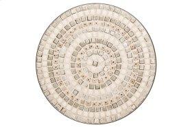 "Boracay 24"" Round Bistro Ceramic Table Top & Iron Base"