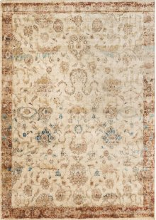 Ant. Ivory / Rust Rug