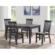 STEVE SILVER RN500-T-S Raven Noir Dinette - Table And 4 Chairs
