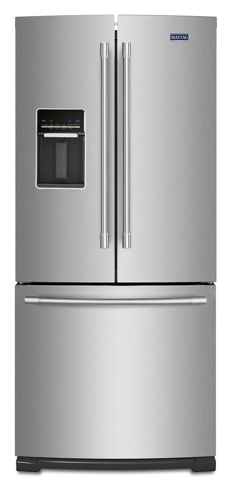 30 Inch Wide French Door Refrigerator With Exterior Water Dispenser  20 Cu.  Ft.