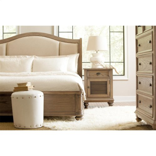 Coventry - King/cali King Sleigh Upholstered Headboard - Weathered Driftwood Finish