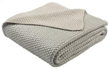TICKLED GREY KNIT THROW - Grey / Silver