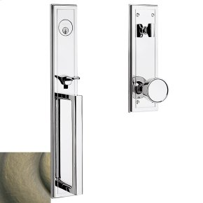 Satin Brass and Black Hollywood Hills Full Escutcheon Handleset