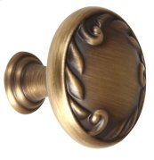 Ornate Knob A3650-38 - Antique English Matte