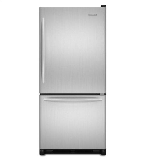 KitchenAid ® 19 Cu. Ft. Standard-Depth Bottom-Freezer Refrigerator, Architect® Series II - Stainless Steel