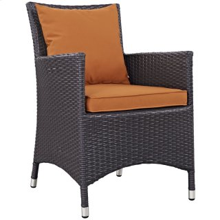 Convene Dining Outdoor Patio Armchair in Espresso Orange