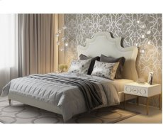 Serenity Cream Velvet King Upholstered Bed Product Image