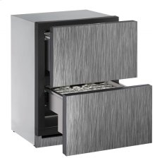 """24"""" Independent Dual-Zone Drawer Model Integrated Solid Drawers"""