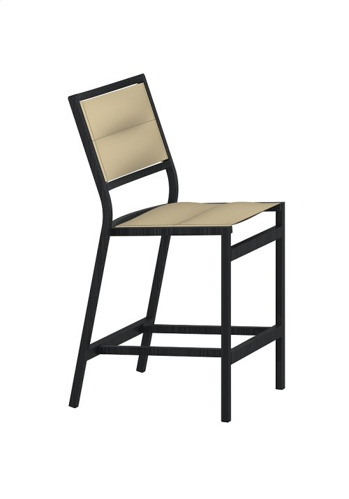 Cabana Club Padded Sling Armless Counter Height Stool