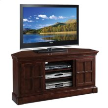 """Bella Maison Two Door 52"""" Corner TV Console with Open Component Bay #81585"""