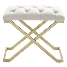 Rada Single Bench in Ivory and Gold
