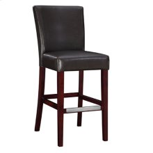 "Brown Bonded Leather Bar Stool, 30-1/4"" Seat Height"