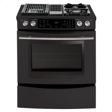 """30"""" Modular Downdraft Slide-In Dual Fuel Range with Convection"""