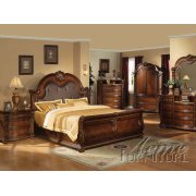 Cherry Finish Eastern King Bedroom Set Product Image