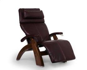Perfect Chair PC-420 Classic Manual Plus - Burgundy Premium Leather - Walnut
