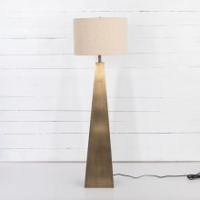 Brass Finish Leander Floor Lamp
