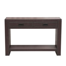 Faux Lthr Wrapped Console