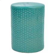 Woven Garden Stool, Teal Product Image