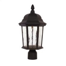 "9"" LED Post Lantern in Driftwood"