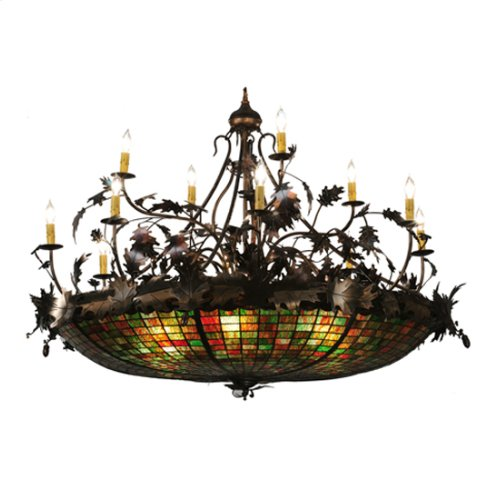 "50""W Greenbriar Oak 12 Arm Chandelier"