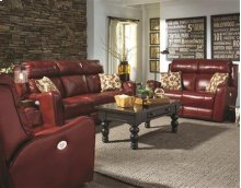 Dble Reclining Loveseat w/ Power Headrest & 2 Pillows