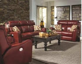 Double Reclining Sofa with Power Headrest & Pillows
