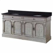 """Isabelle 4 Louvered Doors 72"""" Double Vanity Sink Product Image"""