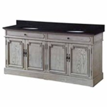 "Isabelle 4 Louvered Doors 72"" Double Vanity Sink"