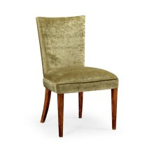Biedermeier Style Mahogany Dining Side Chair (Lime Green)