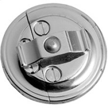 Chrome Plate Button on plate