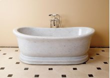 Old World Bathtub Carrara Marble