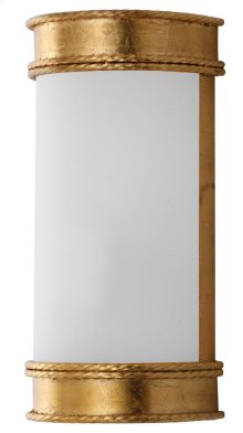 Florence Wall Sconce - Gold Shade Color: White
