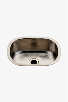 "Normandy 15 3/4"" x 11 13/16"" x 5 7/16"" Hammered Copper Oval Bar Sink with Center Drain STYLE: NOSK23"