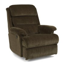 Flexsteel Fabric Power Rocking Recliner
