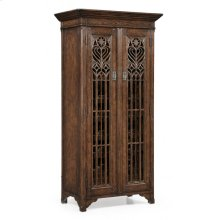 Tall Gothic Tudor Oak Wine Cabinet