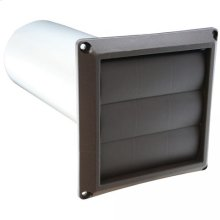 "4"" Louvered Dryer Vent Hood Assembly, Brown Hood"