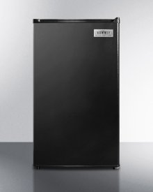 Energy Star Qualified Compact Refrigerator-freezer, Counter Height With Auto Defrost and Black Exterior