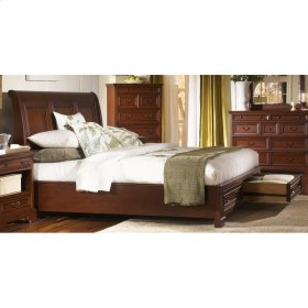 King Low Profile Storage Footboard