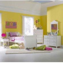 Lauren 4pc Twin Sleigh Bedroom Suite