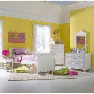 Hillsdale FurnitureLauren 4pc Twin Sleigh Bedroom Suite