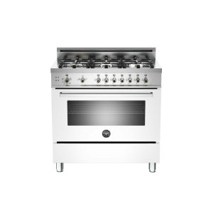 36 6-Burner, Gas Oven White - White