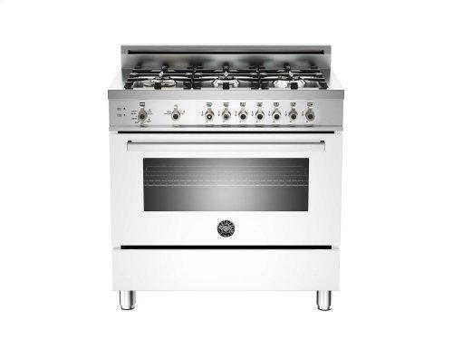 36 6-Burner, Gas Oven White