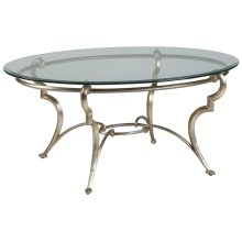 Colette Oval Cocktail Table