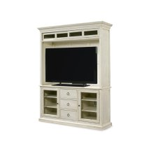 Entertainment Console with Hutch