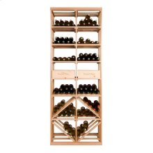 Apex 7' Bottle & Case Diamond Bin Combo Modular Wine Rack - OVERSTOCK