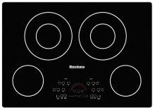 """30"""" electric cooktop, 4 burner, touch controls"""