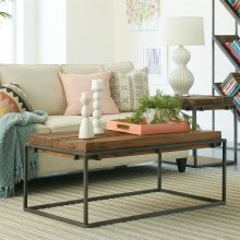 Maverick - Rectangular Coffee Table - Rustic Saal Finish