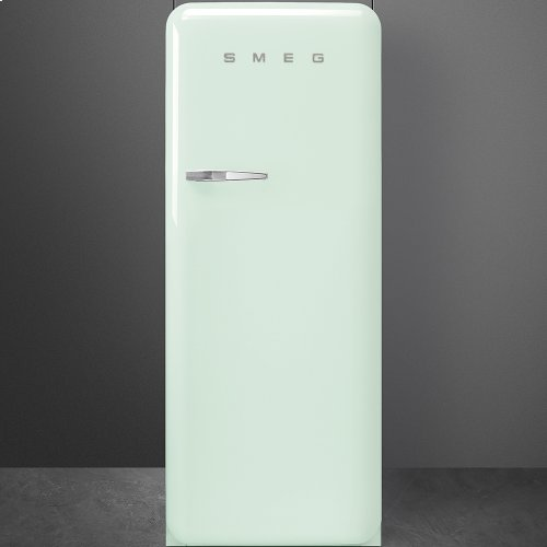 """Approx 24"""" 50'S Style Refrigerator with ice compartment, Pastel green, Right hand hinge"""