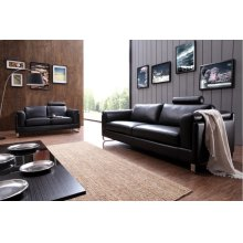 Divani Casa 0875 Modern Black Leather Sofa Set