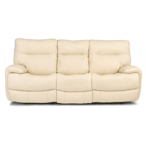 Evian Leather Power Reclining Sofa